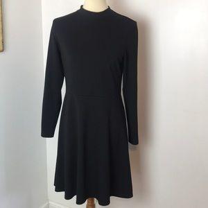 H&M Black Knit Skater Dress Medium